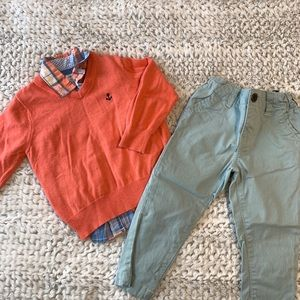 ⭐️3/$25⭐️EUC Carter's boys 3 piece outfit size 2T